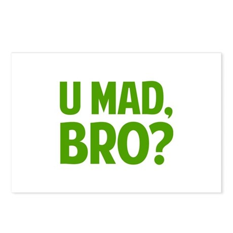 U Mad, Bro? Postcards (Package of 8)