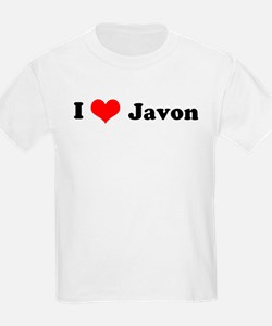 I Love Javon Kids T-Shirt