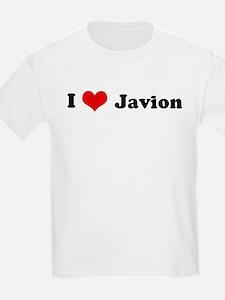 I Love Javion Kids T-Shirt