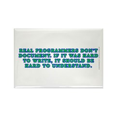 Real programmers - Rectangle Magnet (100 pack)