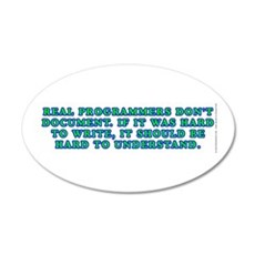 Real programmers - Wall Decal