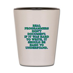 Real programmers Shot Glass