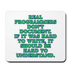 Real programmers Mousepad