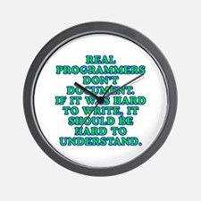 Real programmers - Wall Clock