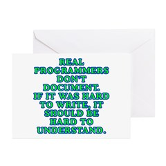 Real programmers Greeting Cards (Pk of 10)