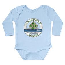 4th Infantry CIB Long Sleeve Infant Bodysuit