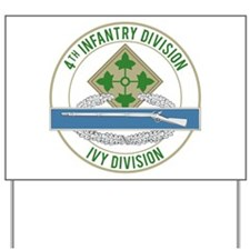 4th Infantry CIB Yard Sign