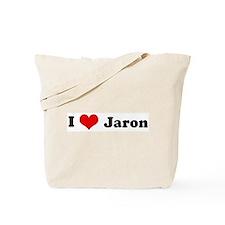 I Love Jaron Tote Bag