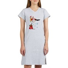 Santa Girl Martini Women's Nightshirt