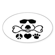 Peace Love Dog Cool Dog Duke Bumper Stickers