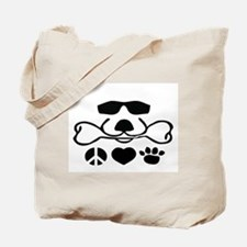 Peace, Love, Dog Tote Bag