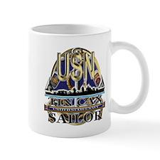 US Navy Tin Can Sailor USN Mug