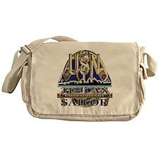 US Navy Tin Can Sailor USN Messenger Bag
