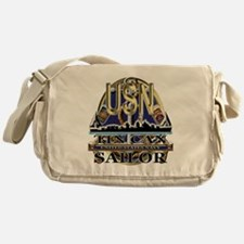 US Navy Tin Can Sailor USN Messenger Bag