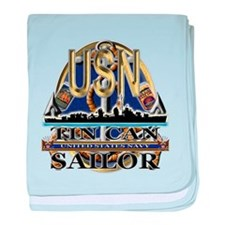 US Navy Tin Can Sailor USN baby blanket