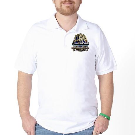 US Navy Tin Can Sailor USN Golf Shirt