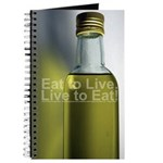"""Eat to Live. Live to Eat!"" Journal"