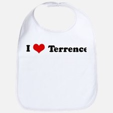 I Love Terrence Bib