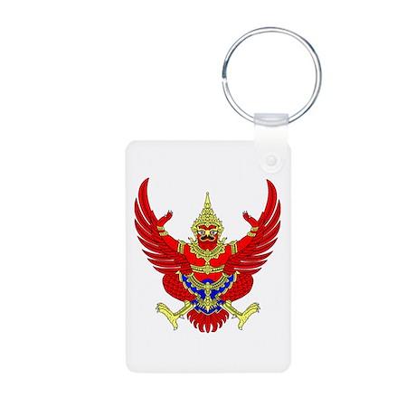 Thai Garuda Symbol Aluminum Photo Keychain