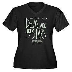 Ideas are like Stars Women's Plus Size V-Neck Dark