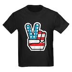 Peace For America Kids Dark T-Shirt