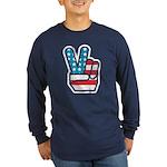 Peace For America Long Sleeve Dark T-Shirt