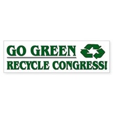 Go Green - Bumper Sticker