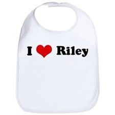 I Love Riley Bib