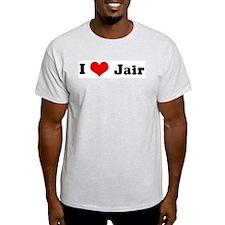 I Love Jair Ash Grey T-Shirt