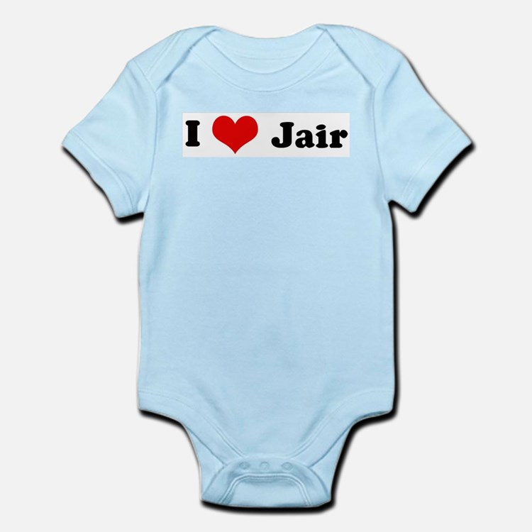 I Love Jair Infant Creeper