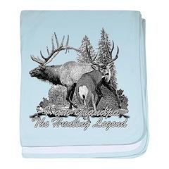 I am Grandpa the hunting legend 3 baby blanket