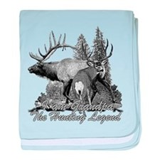 I am Grandpa the hunting legend 3 baby blanket