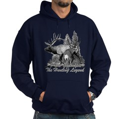 I am Grandpa the hunting legend 3 Hoodie (dark)