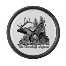 I am Grandpa the hunting legend 3 Large Wall Clock