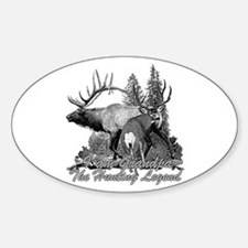 I am Grandpa the hunting legend 3 Decal