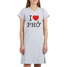 I Love (Heart) Pho Women's Nightshirt