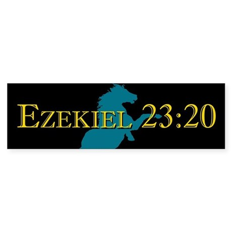 Ezekiel 23:20 bumper sticker