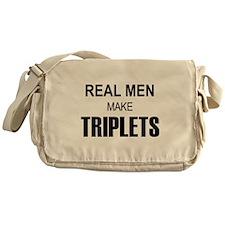 Real Men Triplets Messenger Bag