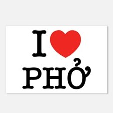 I Love (Heart) Pho Postcards (Package of 8)