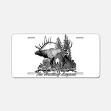 Dad the hunting legend 3 Aluminum License Plate