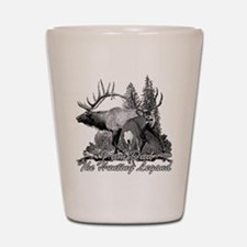 Dad the hunting legend 3 Shot Glass