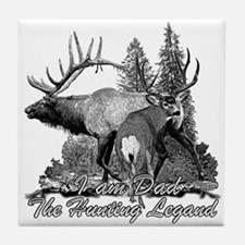 Dad the hunting legend 3 Tile Coaster