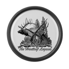 Dad the hunting legend 3 Large Wall Clock