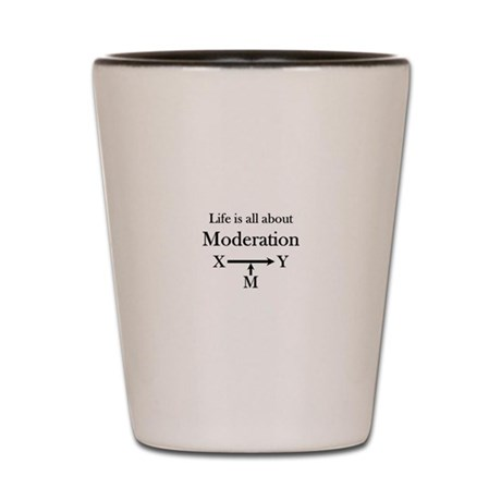 Life is all about Moderation Shot Glass