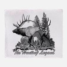 Dad the hunting legend 3 Throw Blanket