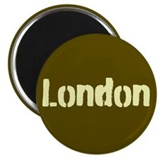 London (Khaki/yellow) Magnet