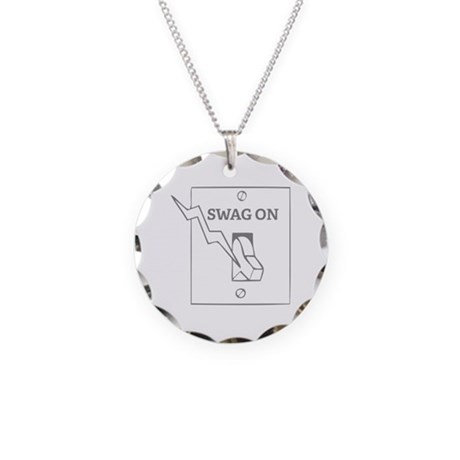 Swag On Necklace Circle Charm