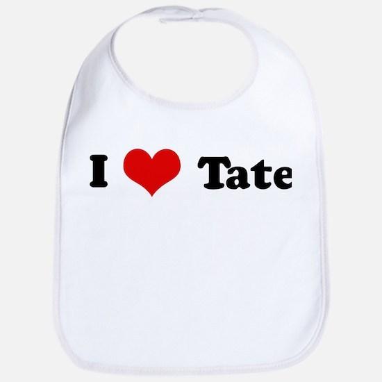 I Love Tate Bib