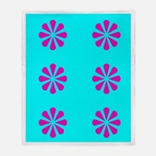 Pink & Blue Couch Potato Throw Throw Blanket