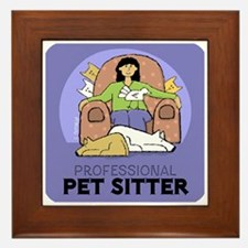 Professional Pet Sitter Framed Tile